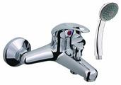 Смеситель для ванны с душем Rubineta Mars Y-10/K однорычажный лейка в комплекте хром