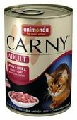 Корм для кошек Animonda Carny беззерновой, с говядиной, с сердцем (паштет)