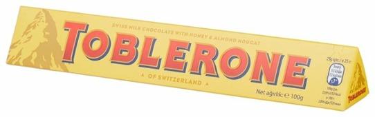 Шоколад Toblerone молочный с медом и миндальной нугой