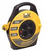 IEK Удлинитель на катушке 4х10м с заземл. 10А IP20 УК10 Industrial с термозащ. 3х1.5