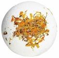 Лаборатория Катрин Бурлящий шар для ванн С цветками календулы 130 г