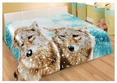 Плед Guten Morgen Волки зимний, 150 x 200 см