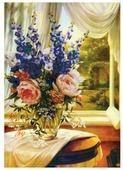 Белоснежка Набор для вышивания Букет с пионами 53 x 72 см (7036-3D)