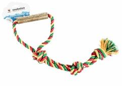 Канат для собак Zoobaloo Грейфер Ручка из орешника 3 узла 45 см