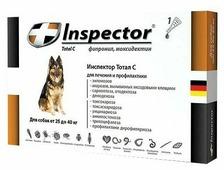 Inspector Total C Капли от блох, клещей и гельминтов для собак от 25 до 40 кг