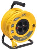 IEK Удлинитель на катушке 4х30м с заземл. 10А IP20 УК30 Industrial с термозащ. 3х1.5