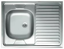 Накладная кухонная мойка Kromrus S-420 80х60см нержавеющая сталь