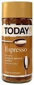 Кофе растворимый Today Espresso сублимированный, стеклянная банка