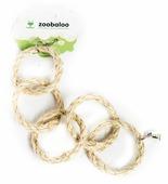 Игрушка для птиц Zoobaloo Пять колец сизаль с колоколом