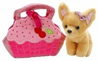 Мягкая игрушка Играем вместе Собака чихуахуа в розовой сумочке в виде кекса 19 см