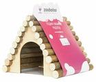 Домик для грызунов, хорьков Zoobaloo Треугольный 23х15х17 см