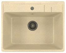 Врезная кухонная мойка Mixline ML-GM15 55х49см искусственный мрамор