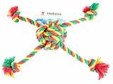Мячик для собак Zoobaloo Паук цветной 10см