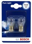 Лампа автомобильная накаливания BOSCH Pure Light 1987301017 P21W 12V 21W 2 шт.