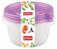 Phibo Комплект контейнеров с клапаном Фрэш 0,75л (3 шт)