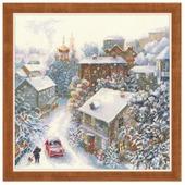 Риолис Набор для вышивания крестом Снежная зима 30 х 30 (1678)
