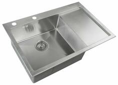 Врезная кухонная мойка ZorG INOX RX-7851-L 78х51см нержавеющая сталь