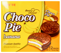 Пирожное Lotte Confectionery Choco Pie Banana