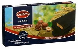 Вафли Кладезь с ароматом лесного ореха на фруктозе 150 г