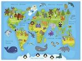 Картина Ekoramka Карта мира