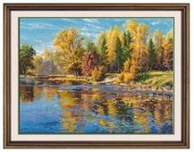 Овен Цветной Вышивка крестом Осень 34 х 25 см (1082)