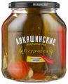 Огурчики со сладким перцем по-домашнему ЛУКАШИНСКИЕ стеклянная банка 670 г