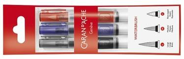 Набор кистей CARAN D'ACHE круглая, короткая ручка, с резервуаром для воды, 3 шт. (CA115.303)