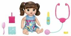 Интерактивная кукла Hasbro Baby Alive Малышка у врача, шатенка, 35 см, C0958