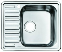 Врезная кухонная мойка IDDIS Strit STR58PRi77 58.5х48.5см нержавеющая сталь