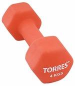 Гантель цельнолитая TORRES PL55014 4 кг