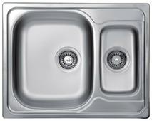 Врезная кухонная мойка Kromevye Triton EX187 62х49см нержавеющая сталь