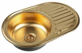 Врезная кухонная мойка ZorG PVD SZR-7750 BRONZE 77х50см нержавеющая сталь