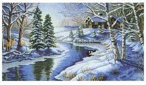 Белоснежка Набор для вышивания Зимняя речка 47 x 27 см (1008)