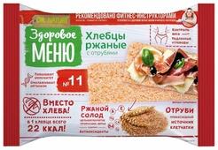 Хлебцы ржаные №11 Здоровое меню с отрубями 90 г