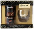 Кофе растворимый Jardin подарочный набор Jardin Filigrano и стеклянная кружка