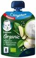 Пюре Gerber Organic Яблоко с йогуртом и злаками (с 8 месяцев) мягкая упаковка 90 г, 16 шт