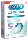 Корега Таблетки для очищения зубных протезов Двойная сила