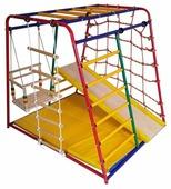 Спортивно-игровой комплекс Вертикаль Веселый малыш MAXI комплектация горкой с мягкими бортиками