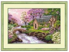 Риолис Набор для вышивания крестом Весенний пейзаж 38 х 26 см (1098)