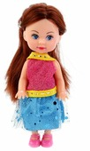 Кукла Карапуз Машенька в модной одежде, 12 см, MARY15685-ВВ