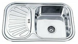 Врезная кухонная мойка Ledeme L67549-R 75х49см нержавеющая сталь
