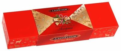 Набор конфет Коркунов Шкатулка молочный и горький шоколад 256 г