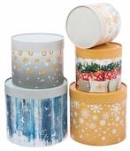 """Набор подарочных коробок Дарите счастье """"Зимние радости"""" 5 шт."""