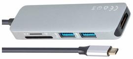 USB-концентратор VCOM CU430M, разъемов: 3