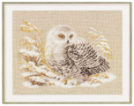 Риолис Набор для вышивания крестом Белая сова 45 x 35 (1241)