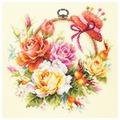 Чудесная Игла Набор для вышивания Розы для мастерицы 25 x 25 см (100-122)
