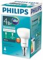 Лампа светодиодная Philips Essential LED 4000К, E14, R50, 4Вт