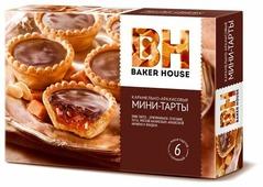 Пирожное BAKER HOUSE Мини-тарты Карамельно-арахисовые