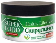 Healthy Life Style Спирулина водоросль молотая в банке, 150 г