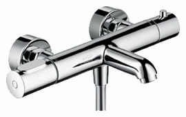 Смеситель для ванны с душем AXOR Citterio M 34435 двухрычажный с термостатом хром
